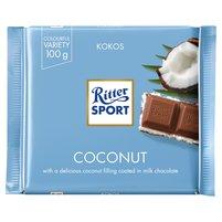 RITTER Sport Czekolada mleczna nadziewana kremem mleczno-kokosowym