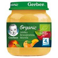 GERBER Organic Jabłko brzoskwinia morela dla niemowląt po 4. m-cu