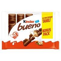 KINDER Bueno Wafel w mlecznej czekoladzie wypełniony mleczno-orzechowym nadzieniem