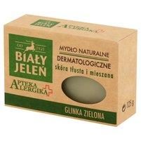 BIAŁY JELEŃ Apteka Alergika Dermatologiczne mydło naturalne Glinka zielona
