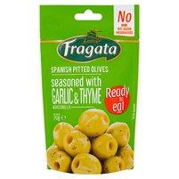 FRAGATA Zielone oliwki drylowane z czosnkiem tymiankiem oraz oliwą z oliwek