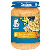 GERBER Krupniczek drobiowy z warzywami dla niemowląt po 9. m-cu