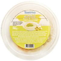 TAVERNA Hummus Kremowy dip z ciecierzycy z salsą z zielonych oliwek