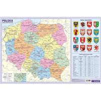 DEMART Polska - podział administracyjny. Podkładka na biurko