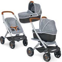 SMOBY Quinny Filcowy wózek spacerówka i gondola dla lalek 3w1