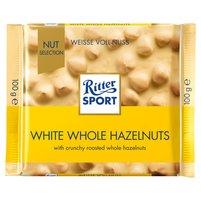 RITTER Sport White Whole Hazelnut Czekolada biała z orzechami laskowymi i chrupkami