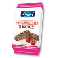 PRIMART Strawberry Biscuit Ciastka z kremem truskawkowym