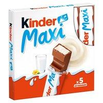 KINDER Maxi Batoniki z mlecznej czekolady z nadzieniem mlecznym (5 szt.)