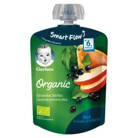 GERBER Organic Deserek Gruszka jabłko czarna porzeczka dla niemowląt po 6. miesiącu