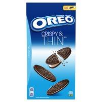 OREO Cripsy & Thins Ciastka kakaowe z nadzieniem o smaku waniliowym (32 sztuki)