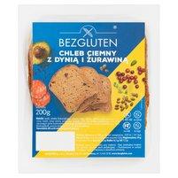 BEZGLUTEN Chleb ciemny z dynią i żurawiną