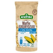 KUPIEC Wafle kukurydziane z solą morską (21 sztuk)
