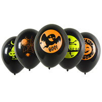 PARTY TIME Balony z neonowym nadrukiem na Halloween (5szt.)