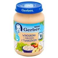 GERBER Winogrona i jabłuszka z twarożkiem po 6. m-cu