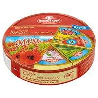 SERTOP TYCHY Nasz... wyśmienity Mix Ser topiony 140 g (8 porcji)
