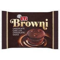 ETI Browni Babeczka z czekoladą i nadzieniem czekoladowym