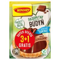 WINIARY Budyń bez dodatku cukru smak czekoladowy (4 x 38 g)