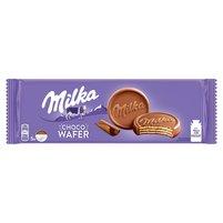 MILKA Choco Wafer Wafelki z kremem kakaowym oblane czekoladą mleczną (5 sztuk)