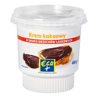 ECO+ Krem kakaowy o smaku orzechów laskowych