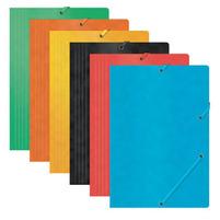 OFFICE PRODUCTS Teczka A4 z gumką preszpan Mix kolorów
