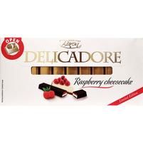 BARON Delicadore Batoniki czekoladowe z nadzieniem o smaku sernikowym i malinowym