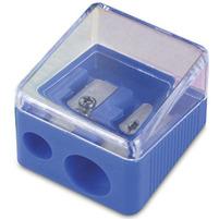 DONAU Temperówka podwójna plastikowa niebieska