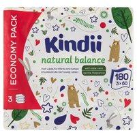 KINDII Natural Balance Chusteczki dla niemowląt i dzieci (3 x 60 szt.)