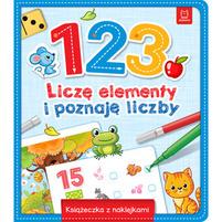 AKSJOMAT 1 2 3 Liczę elementy i poznaję liczby. Książeczka z naklejkami (okładka miękka)