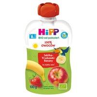 HiPP BIO Mus owocowy 100% owoców po 6. miesiącu jabłka-truskawki-banany