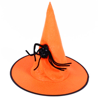 HANMAR Kapelusz czarownicy z pająkiem na Halloween