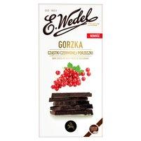 E. WEDEL Premium Czekolada gorzka cząstki czerwonej porzeczki