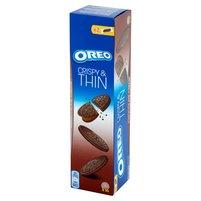 OREO  Crispy & Thin Ciastka kakaowe z nadzieniem o smaku czekoladowym (16 szt.)