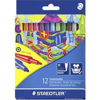 STAEDTLER Flamastry szkolne 12 kolorów