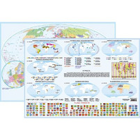 KRESKA Mapa Świata - podział polityczny Podkładka na biurko A2