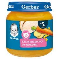 GERBER Krem jarzynowy ze schabem dla niemowląt po 5. m-cu