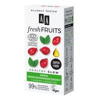 AA Fresh Fruits krem przeciwzmarszczkowy z olejkiem z dzikiej róży NATURAL