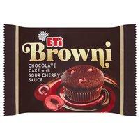 ETI Browni Babeczka z czekoladą i nadzieniem o smaku wiśniowym