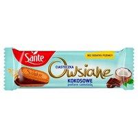 SANTE Ciasteczka owsiane kokosowe podlane czekoladą