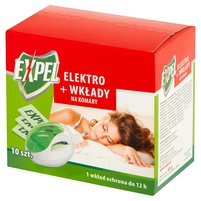 EXPEL Elektro + wkłady na komary 10 sztuk