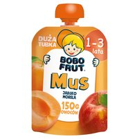BOBO FRUT Mus jabłko morela dla dzieci 1-3 lata