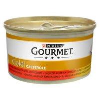GOURMET Gold z wołowiną i kurczakiem w sosie z pomidorami