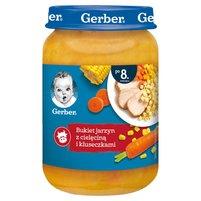 GERBER Bukiet jarzyn z cielęciną i kluseczkami dla niemowląt po 8. m-cu