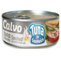 CALVO Tuńczyk wędzony w oleju roślinnym