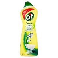 CIF Cream Lemon z mikrogranulkami Mleczko do czyszczenia powierzchni