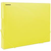 DONAU Teczka A4 z gumką żółta transparentna (3cm szer.)