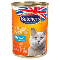BUTCHER'S Natural&Healthy Karma dla dorosłych kotów kawałki w galaretce z pstrągiem