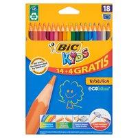 BIC KIDS Evolution Wytrzymałe kredki ołówkowe 14+4 gratis