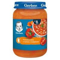 GERBER Pomidorowa z ryżem i indykiem dla niemowląt po 8. m-cu