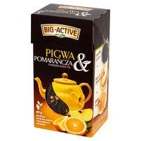 BIG-ACTIVE Pigwa & Pomarańcza Liściasta herbata czarna z kawałkami owoców