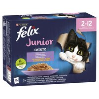 FELIX Fantastic Junior Karma dla kociąt wybór smaków w galaretce (12 x 85 g)